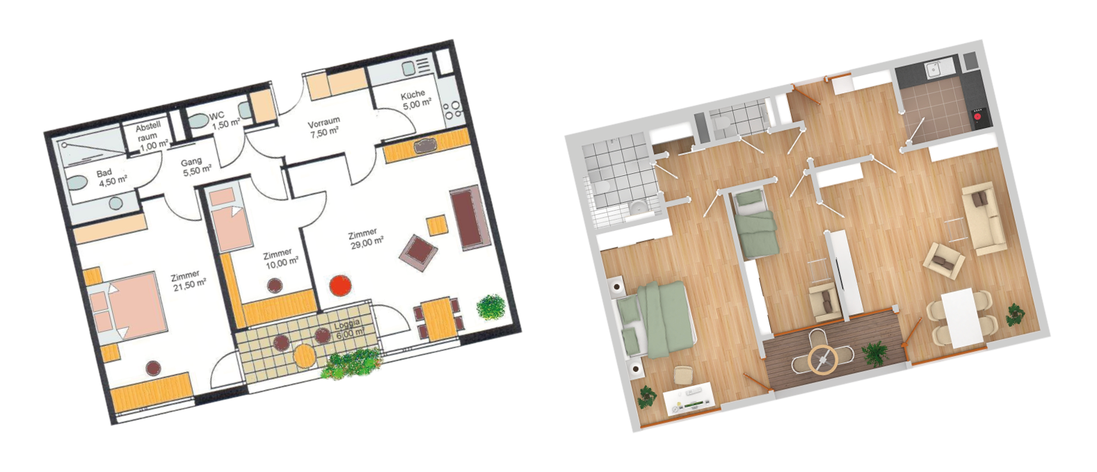 Visualisierung, Senioren Residenz, Residenzen, Österreich, Salzburg, Werbeagentur Salzburg, creative köpfe